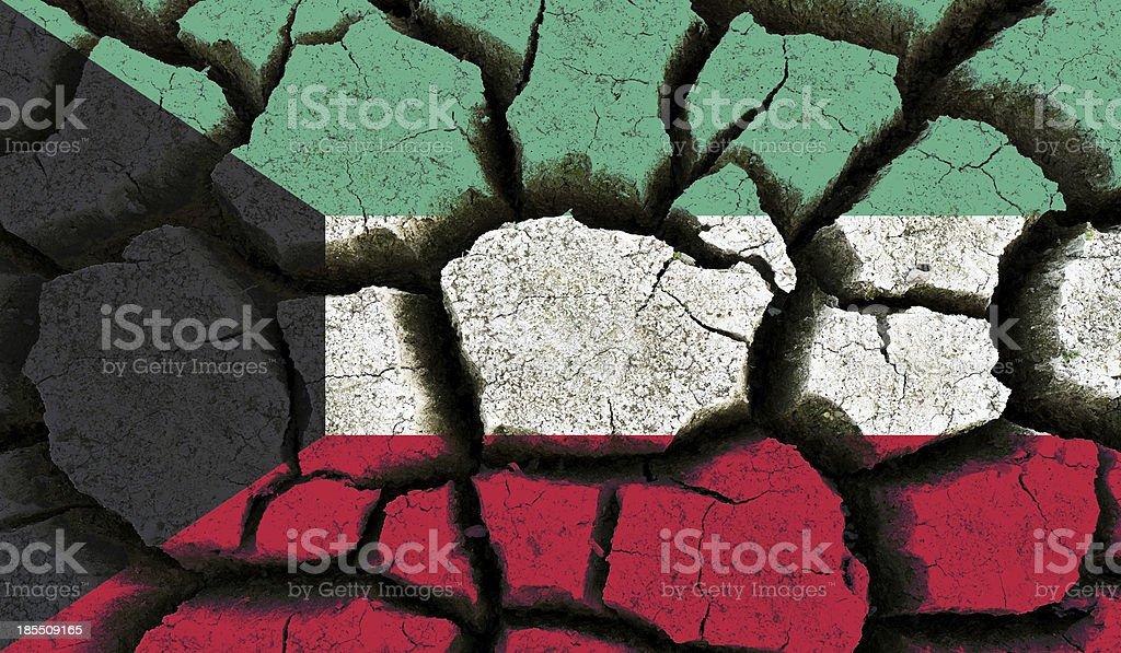 Kuwait flag. royalty-free stock photo