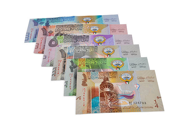 kuwait new currency - kuwait currency stock photos and pictures