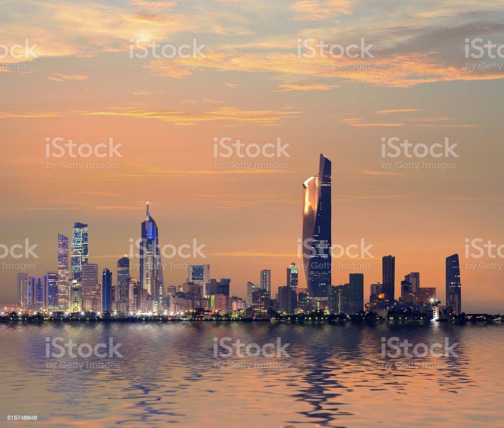 Kuwait Skyline stock photo