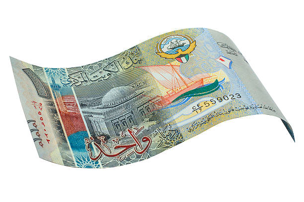 kuwaiti dinar bank note. - kuwait currency stock photos and pictures