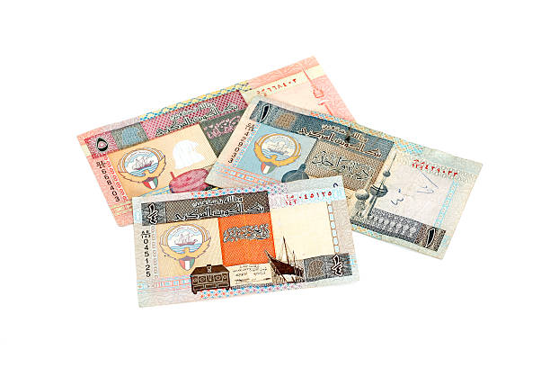 kuwaiti money - kuwait currency stock photos and pictures