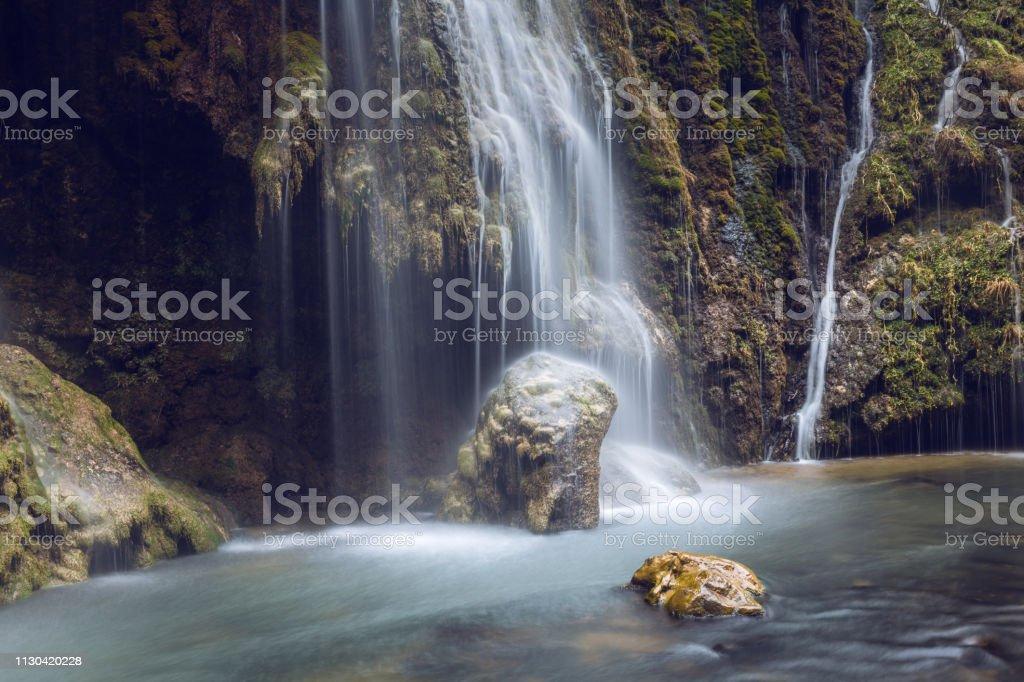 Kuzalan waterfall Giresun Turkey stock photo