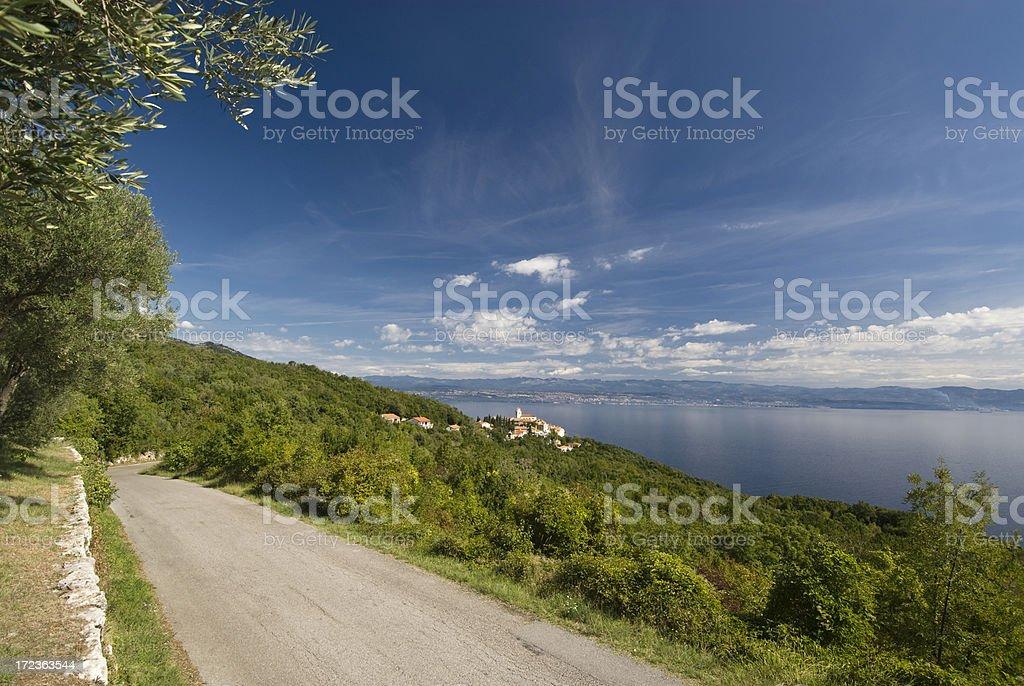Kvarner Bay View royalty-free stock photo