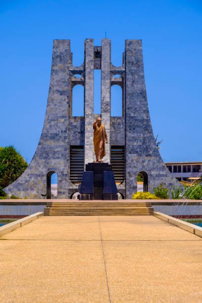 Kwame Nkrumah Mausoleum and statue stock photo