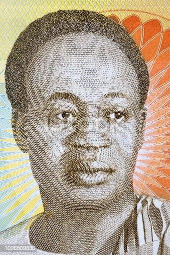 Kwame Nkrumah portrait from Ghanaian money