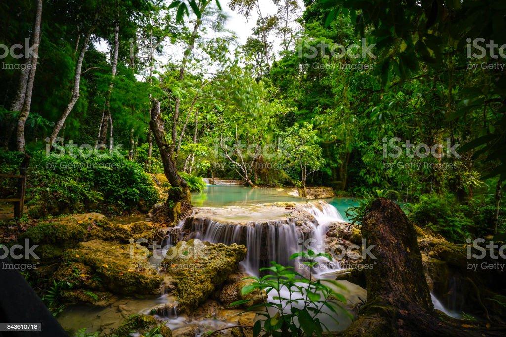 Kwang Si Waterfall in Luang Prabang stock photo