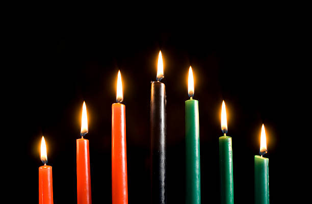 kwanzaa candles only - kwanzaa stock pictures, royalty-free photos & images