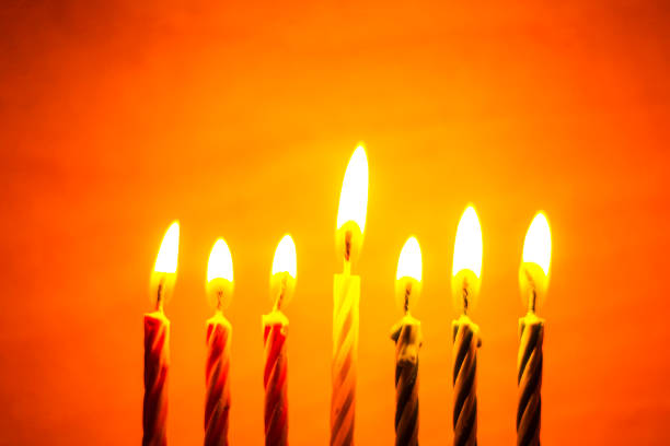 kwanzaa seven candles - kwanzaa stock pictures, royalty-free photos & images