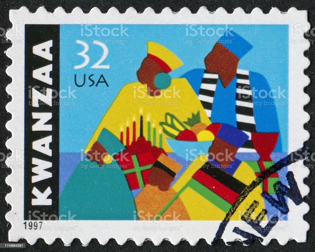 Kwanzaa Stamp royalty-free stock photo