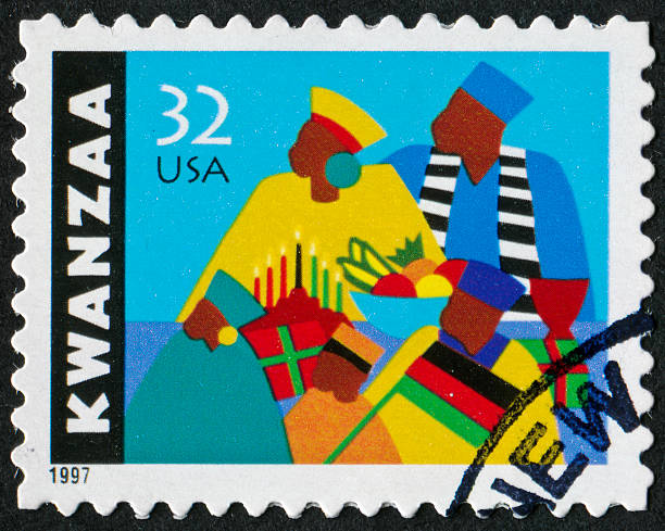 kwanzaa stamp - kwanzaa stock pictures, royalty-free photos & images