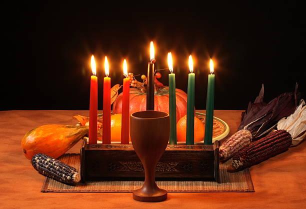 Kwanza Table bougies éclatante - Photo