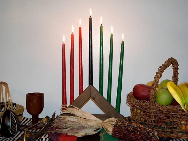 kwanzaa table - kwanzaa stock pictures, royalty-free photos & images