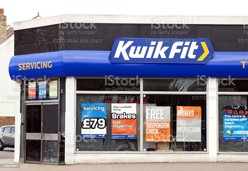KwikFit repair shop royalty-free stock photo