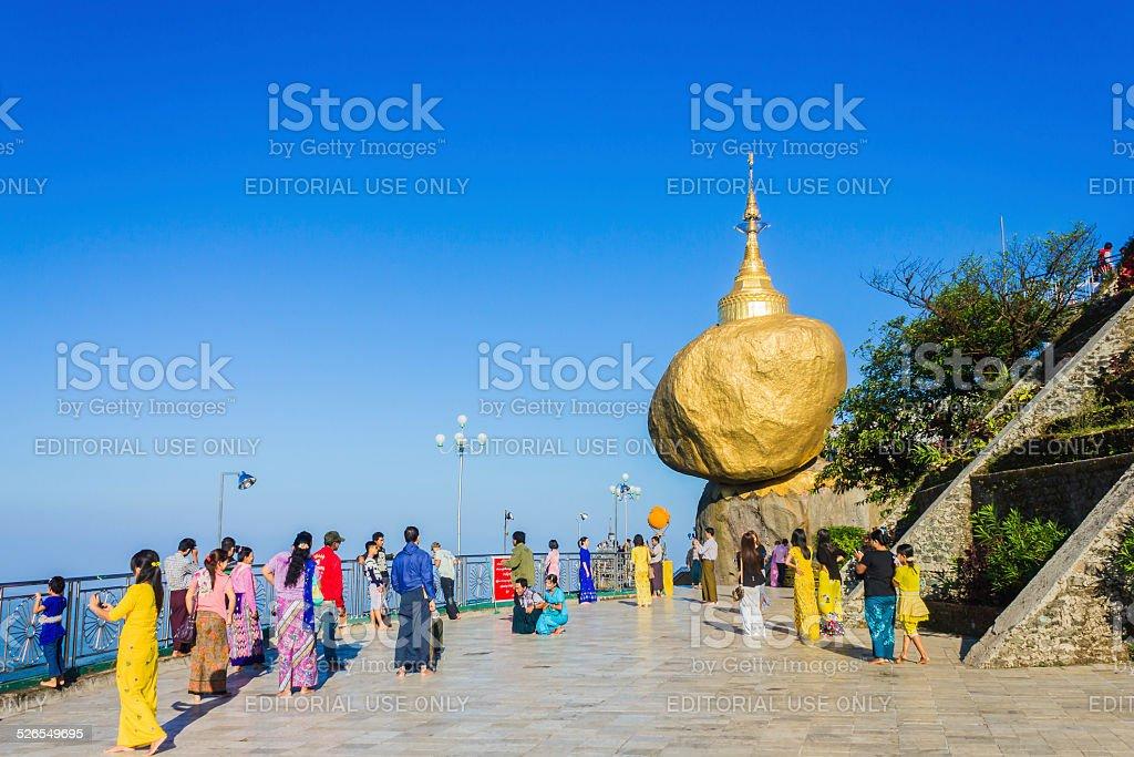 Kyaiktiyo, Myanmar stock photo