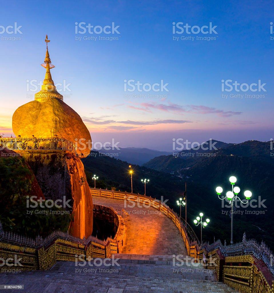 Kyaiktiyo pagoda (Golden rock), Mon state, Myanmar stock photo