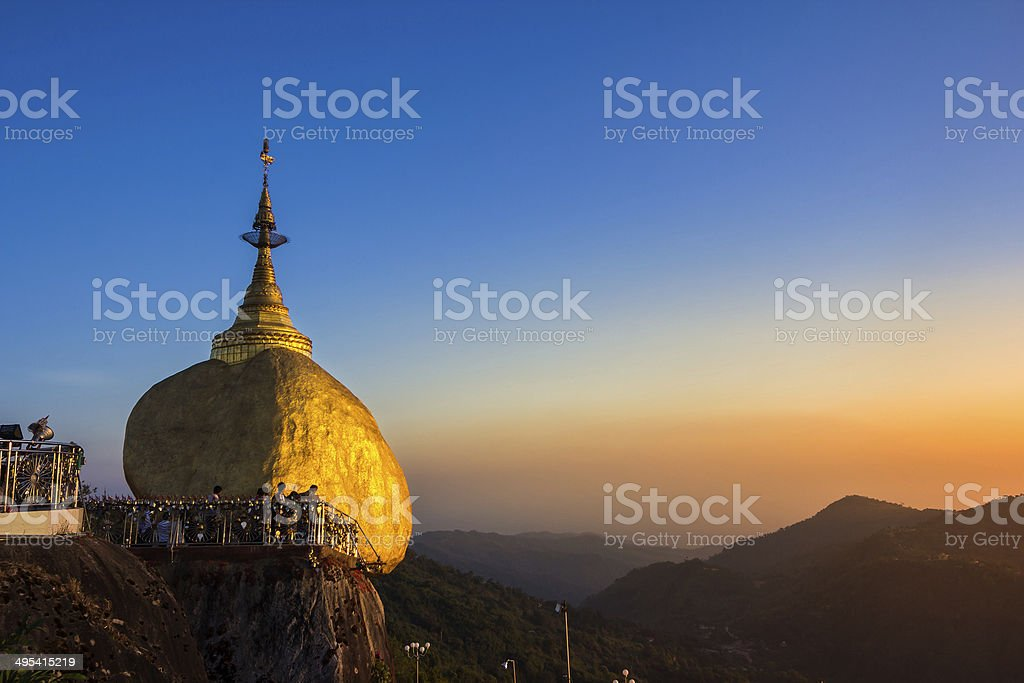 Kyaiktiyo Pagoda stock photo