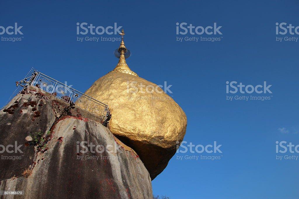 Kyaiktiyo Pagodan, Golden Rock, Myanmar stock photo