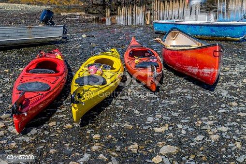 Blue Rocks, Lunenburg County, Nova Scotia Canada - September 9, 2018.