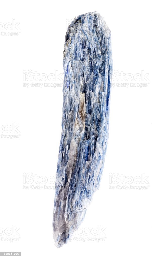 Kyanite blue silicate mineral on background stock photo
