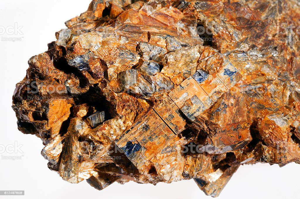 kyanite - disten mineral stock photo