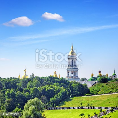 Kyiv Pechersk Lavra (foundation in 1051) is a historic Orthodox Christian monastery, Ukraine. Composite photo