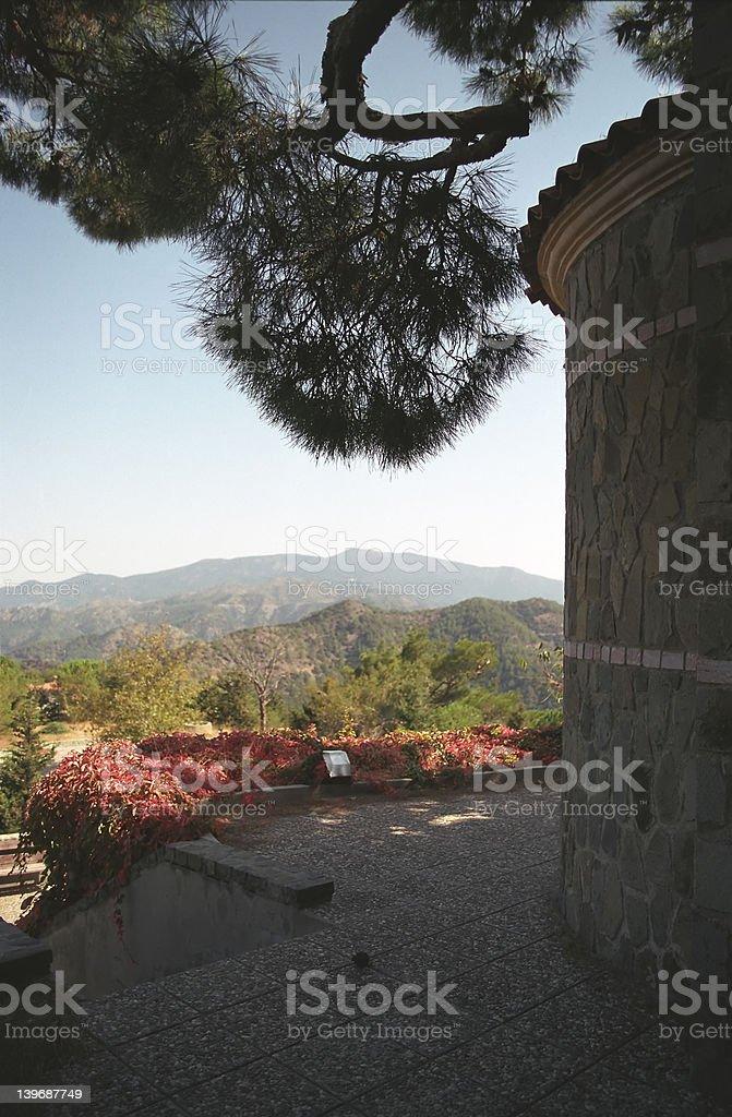 Kykkos Monastery 7 (tower) royalty-free stock photo