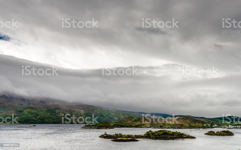 Kyle of Lochalsh - Small islands on the loch stock photo
