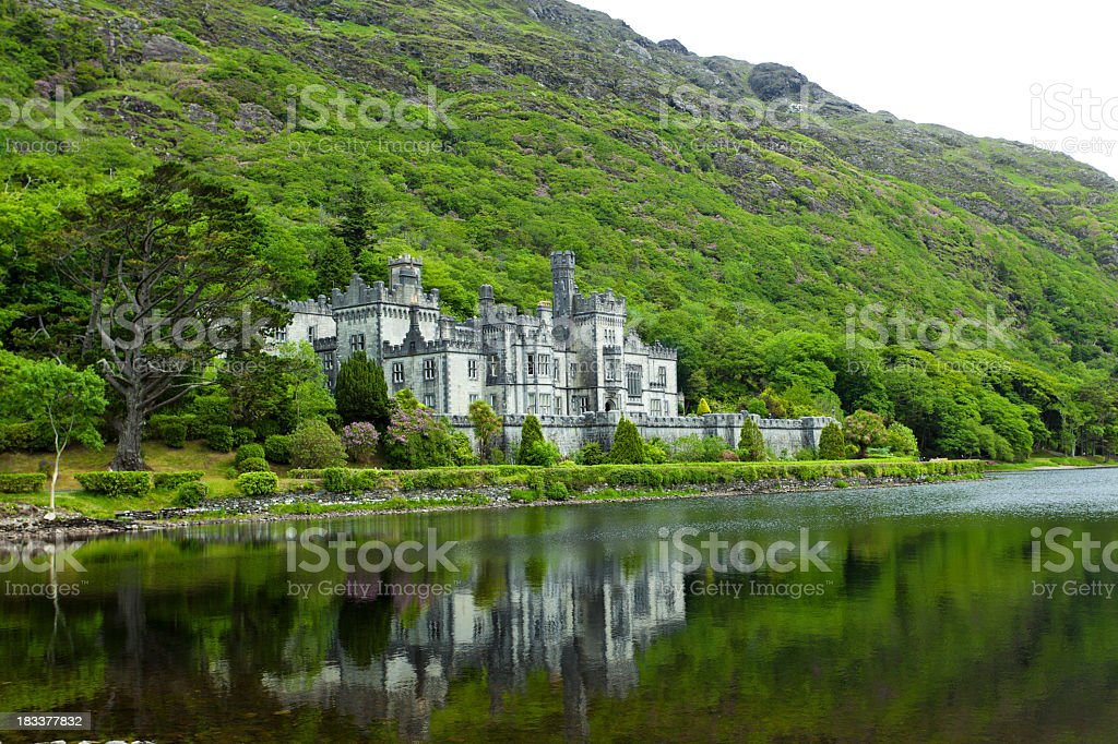 Kylemore Abbey castle in Ireland stock photo