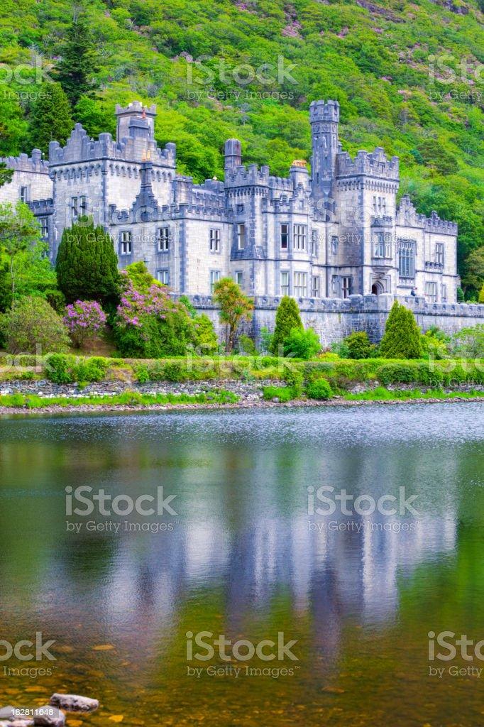 Kylemore Abbey, Landmark of Ireland stock photo