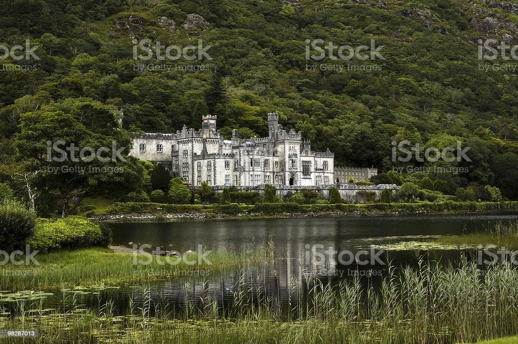 Abbazia di Kylemore, il Connemara, Co.Galway.Ireland foto stock royalty-free