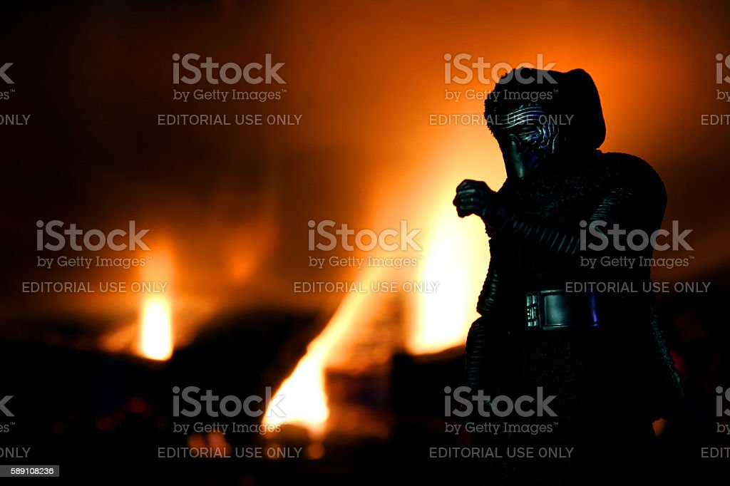 Kylo and the Force stock photo
