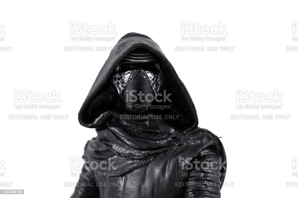Kylo Ren portrait on white background stock photo