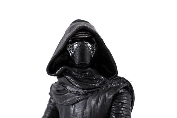 kylo ren portrait on white background - darth vader 個照片及圖片檔
