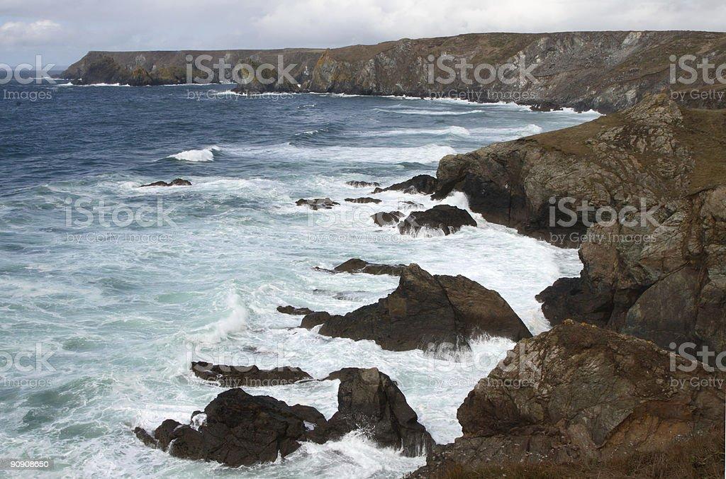 Kynance Cove in Cornwall, England stock photo