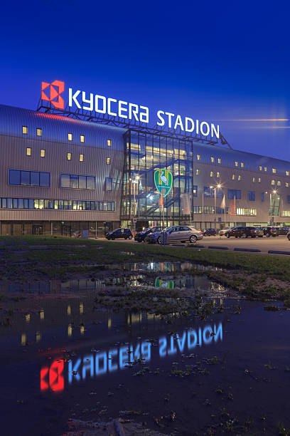kyocera stadium in the hague - dutch hockey stockfoto's en -beelden