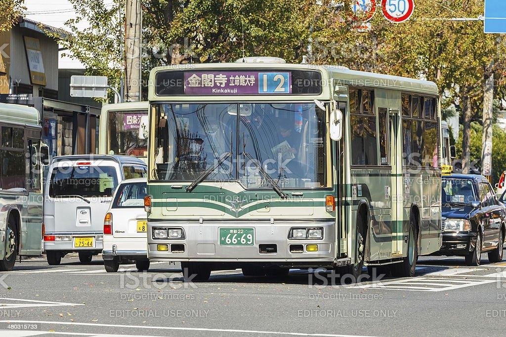 Autobus della città di Kyoto - foto stock
