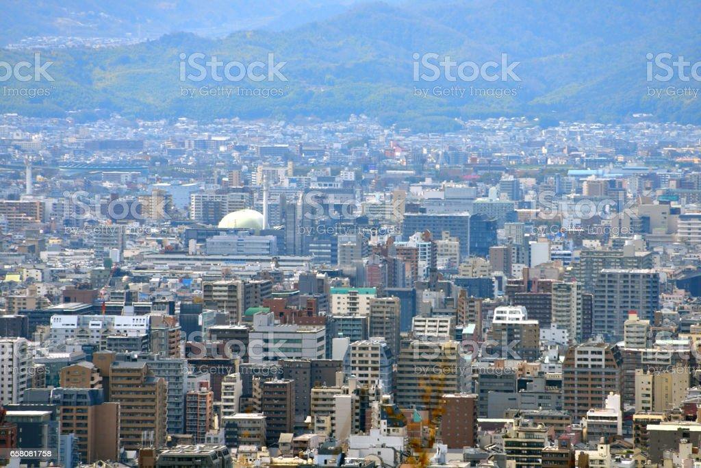 Kyoto City View - Karasuma Gojo - Kyoto Japan royalty-free stock photo