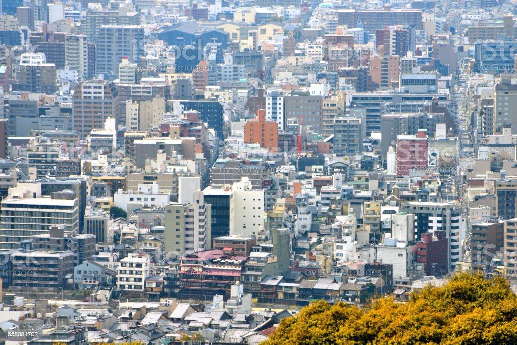 Kyoto City View - Kawaramachi Gojo - Kyoto Japan royalty-free stock photo