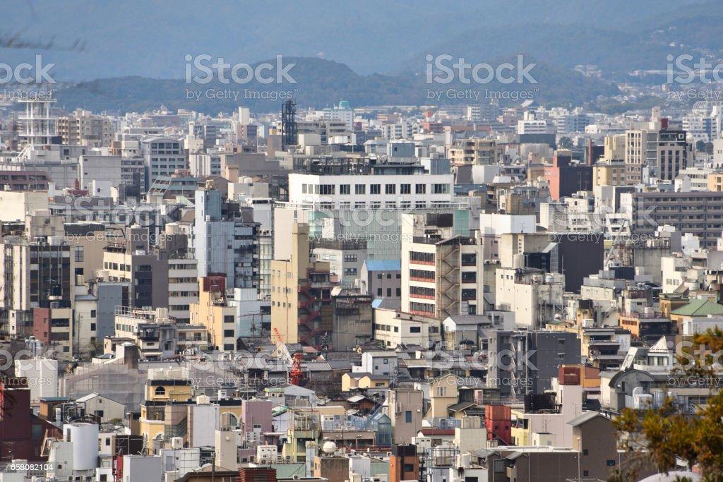 Kyoto City View - Kawaramachi Sanjo - Kyoto Japan royalty-free stock photo