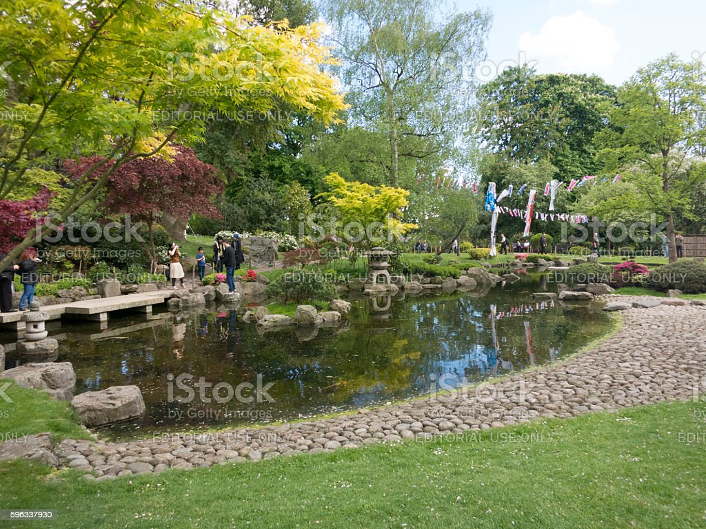 Kyoto Gardens in Holland Park, London royalty-free stock photo