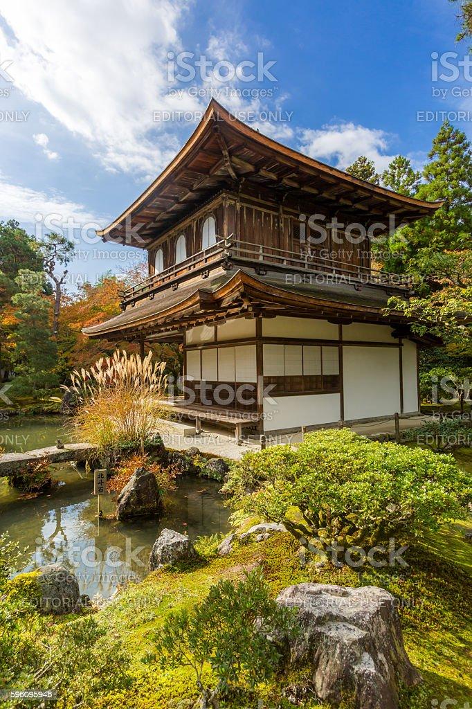 Kyoto Ginkakuji temple royalty-free stock photo