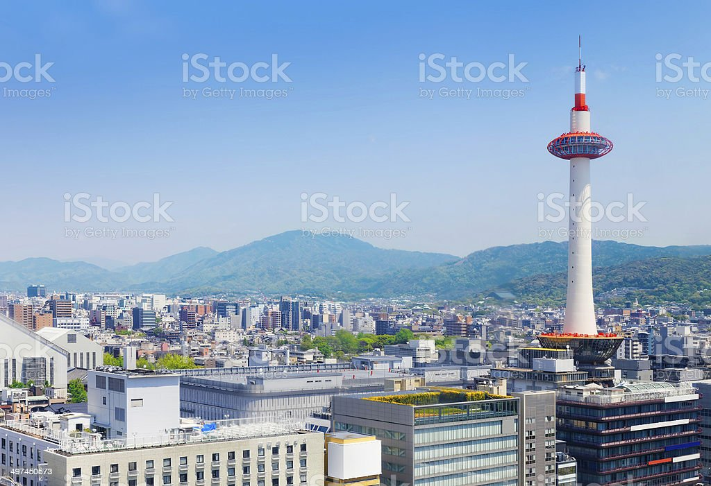 Kyoto, Japan skyline stock photo
