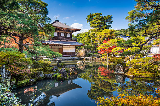 kyoto - japanischer garten stock-fotos und bilder