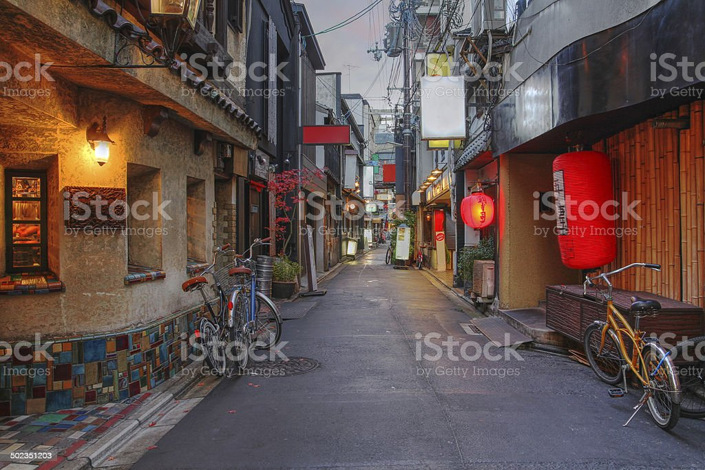 Kyoto street, Japana stock photo