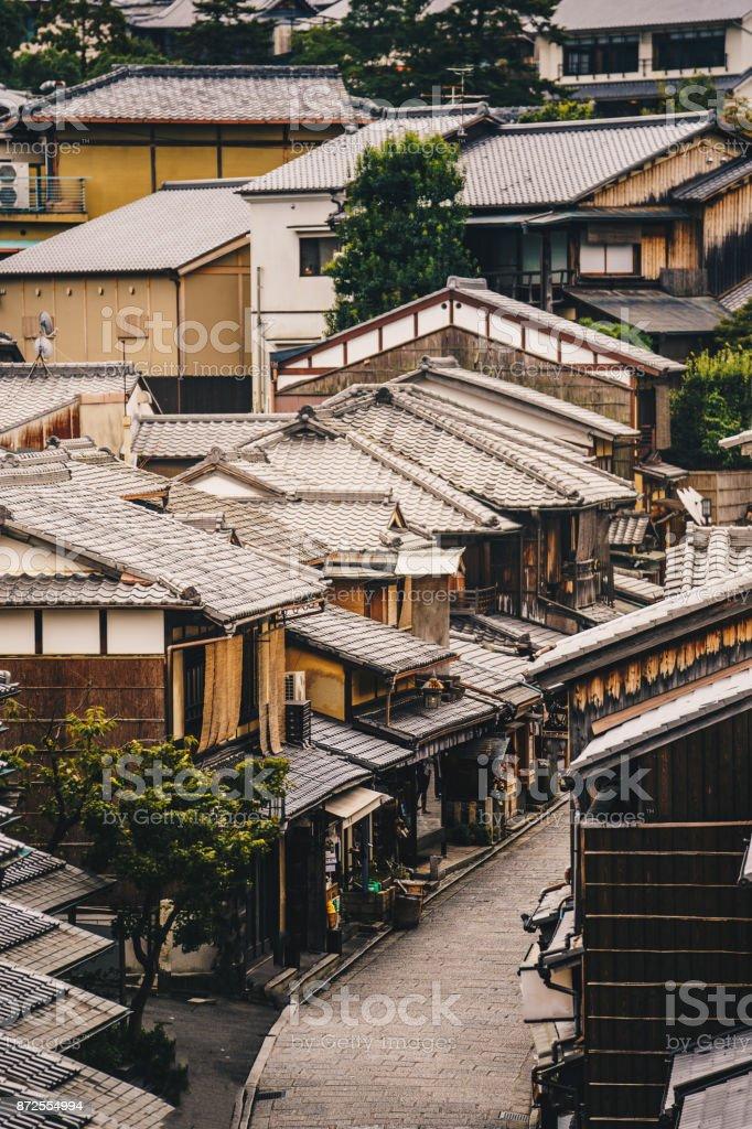 Kyoto streets in Higashiyama District, Japan stock photo