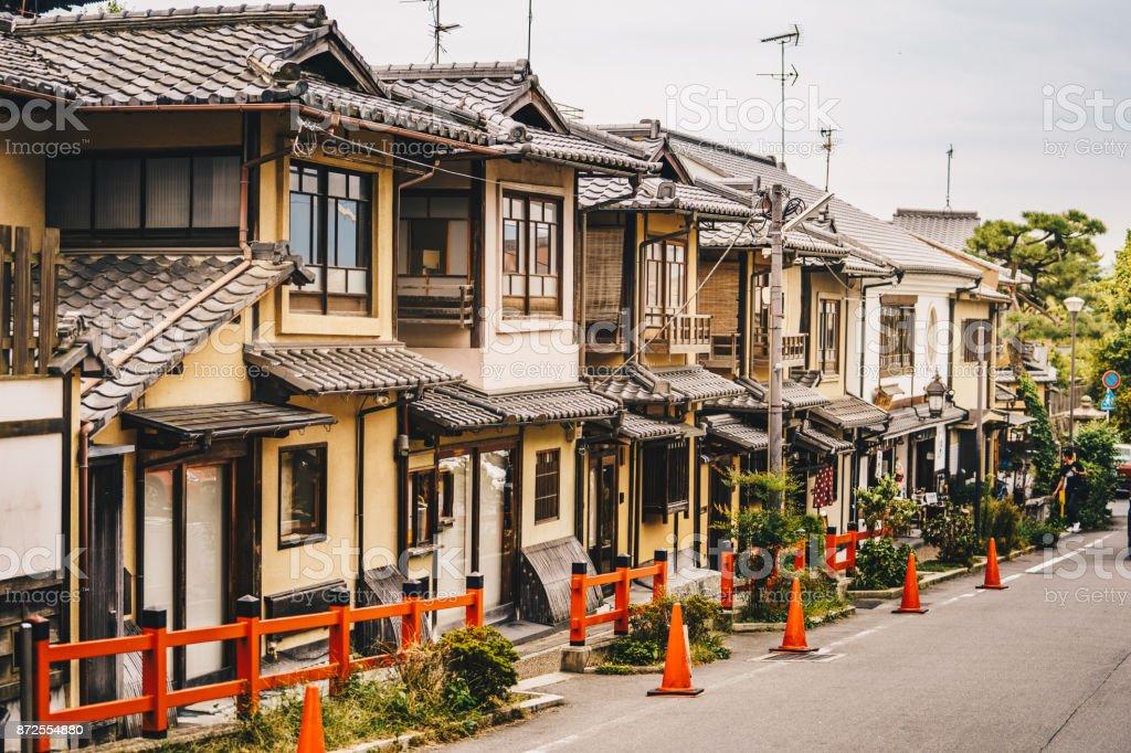 Kyoto traditional houses in Higashiyama District, Japan stock photo
