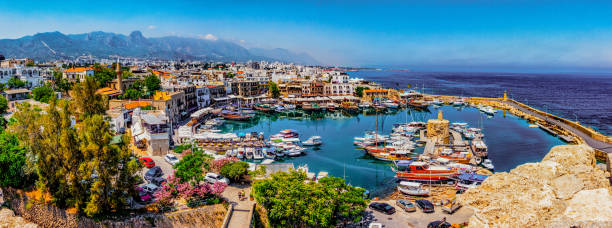kyrenia marina in cyprus - cyprus стоковые фото и изображения