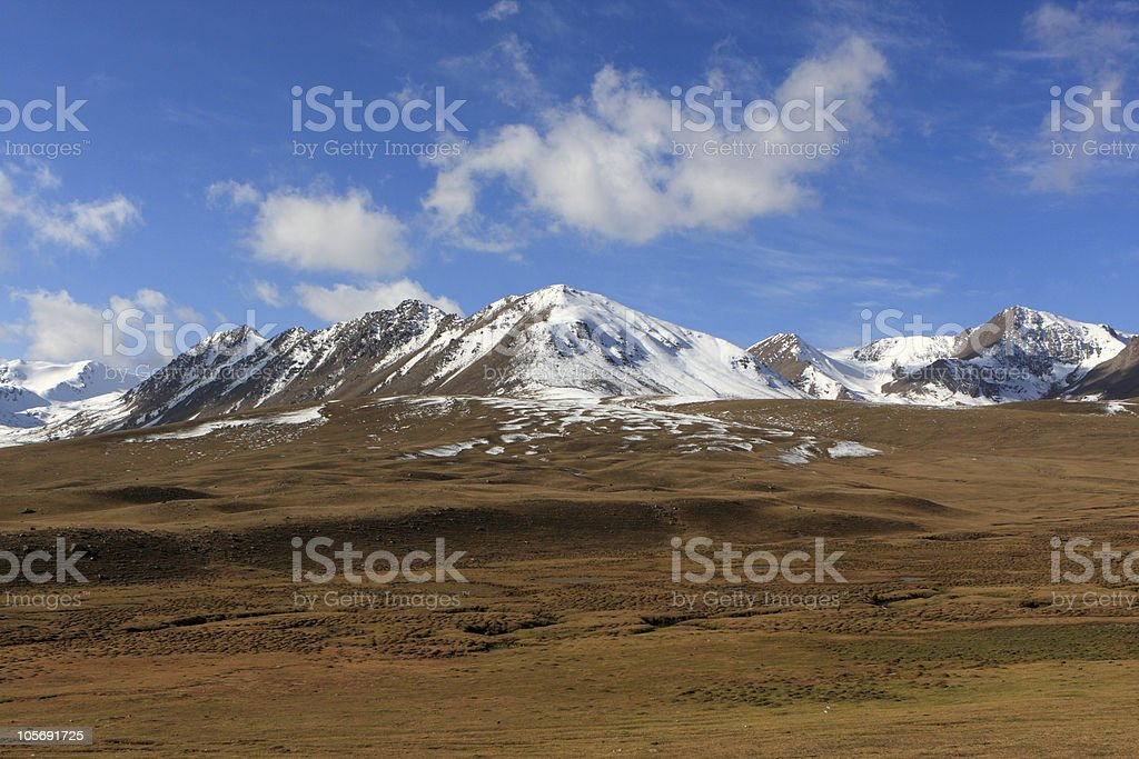 Kyrgyz mountain ridge stock photo