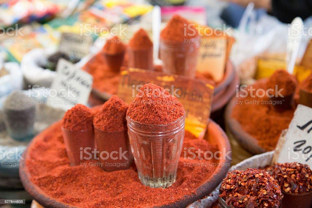 Kyrgyz Spices at Osh Bazar stock photo