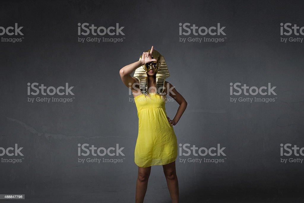 l for a loser egypt legend stock photo
